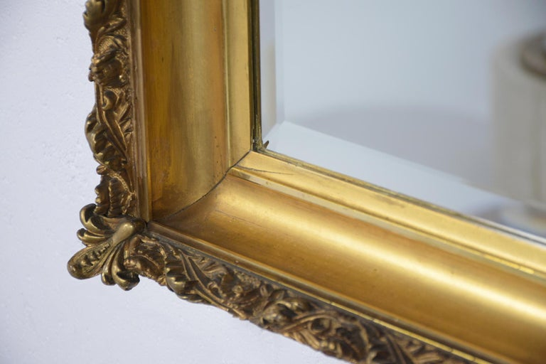 19th Century Napoleon III Giltwood Mirror In Good Condition For Sale In Los Angeles, CA