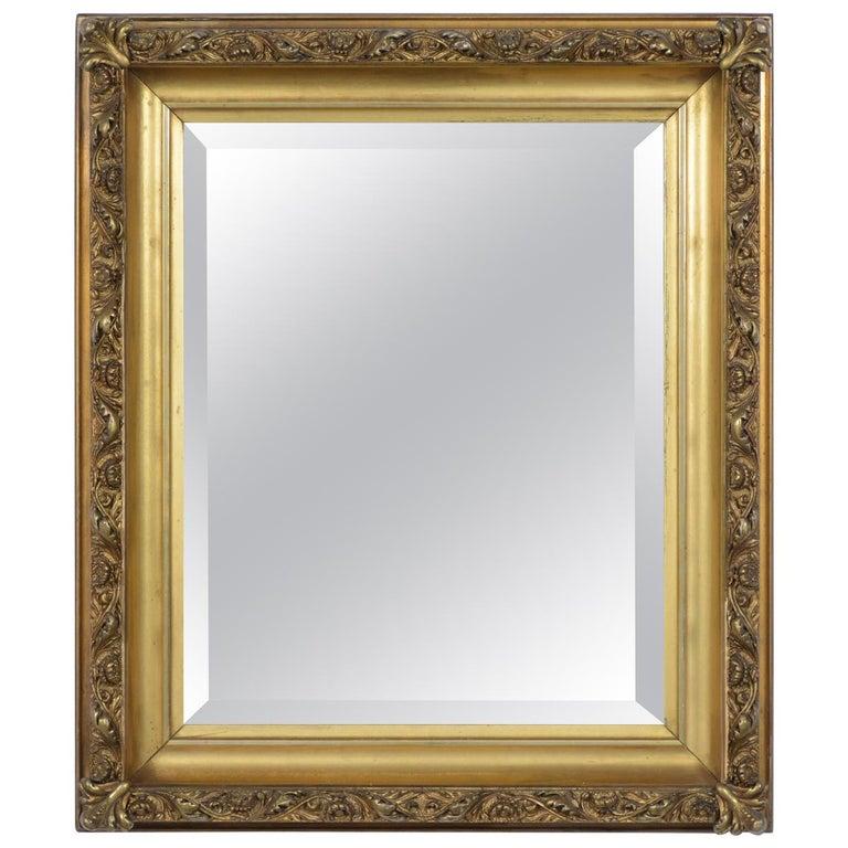 19th Century Napoleon III Giltwood Mirror For Sale