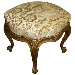 French 19th Century Giltwood Stool