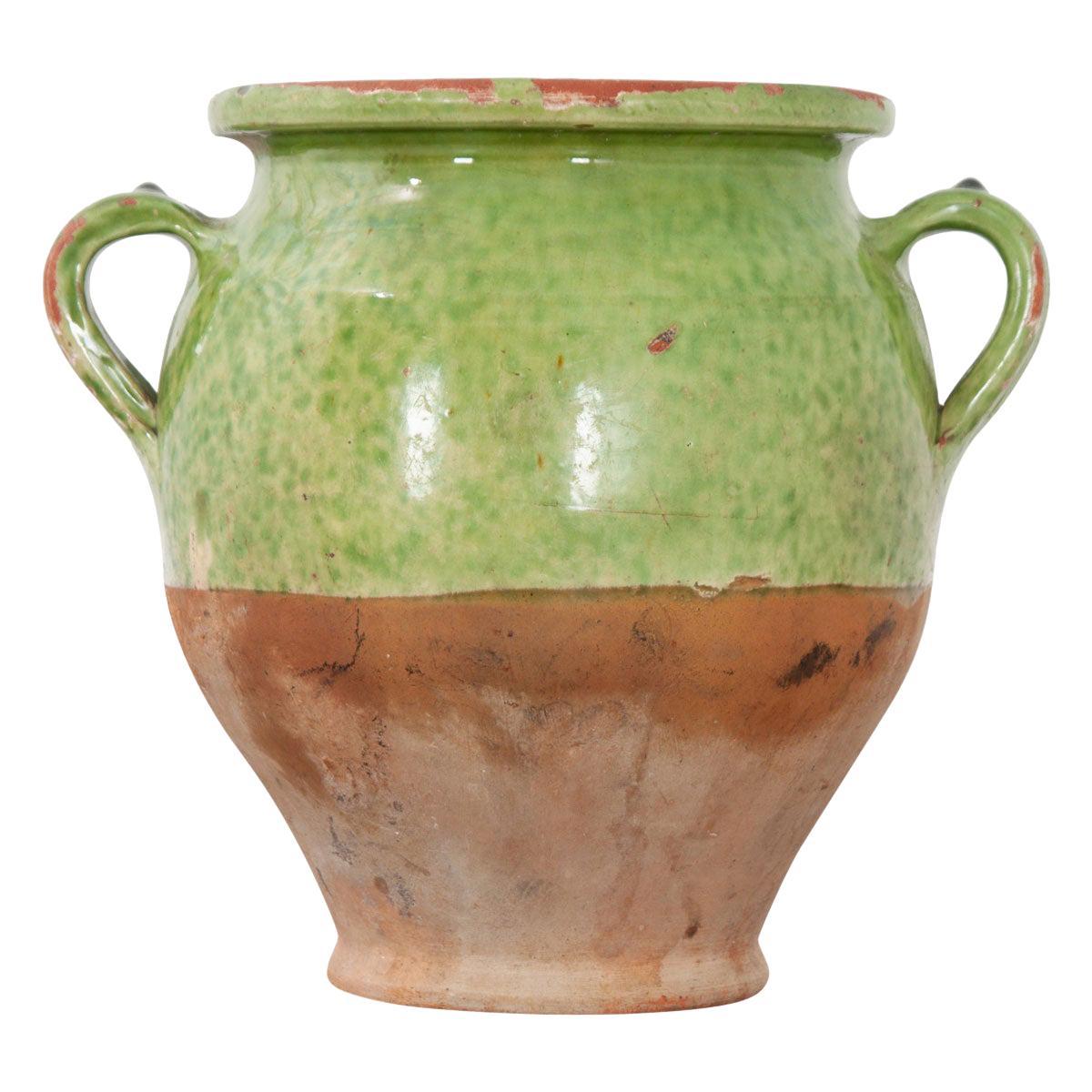French 19th Century Glazed Confit Jar