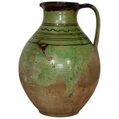 French, 19th Century Glazed Earthenware Jug
