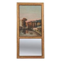 French 19th Century Giltwood Trumeau Mirror