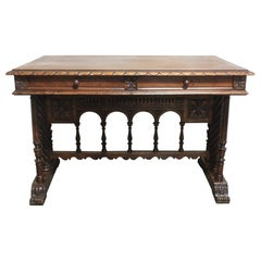French 19th Century Gothic Style Writing Table