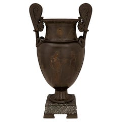 French 19th Century Grand Tour Period Bronze and Marble Urn