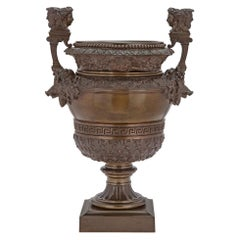 French 19th Century Grand Tour Period Patinated Bronze Urn