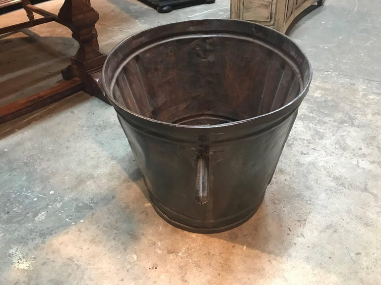 Metal French 19th Century Grape Harvesting Baskets/Buckets For Sale