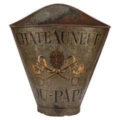 French 19th Century Grape Picking Metal Basket