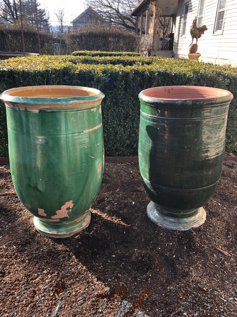 French 19th Century Green-Glazed Terracotta Pot from Apt For Sale 11