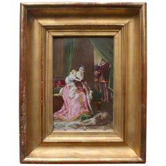 French 19th Century Hand Painted Porcelain Plaque