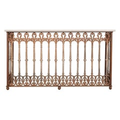 French 19th Century Iron Console