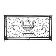 French 19th Century Iron Console Table