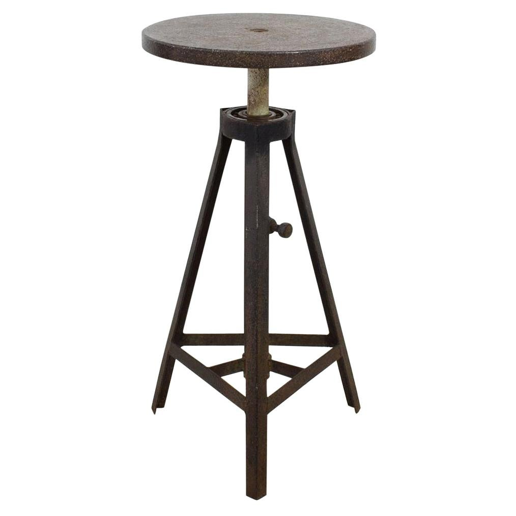 French 19th Century Iron Industrial Sculpture Stand