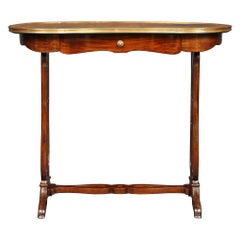 French 19th Century Kidney Shaped Mahogany Writing Table