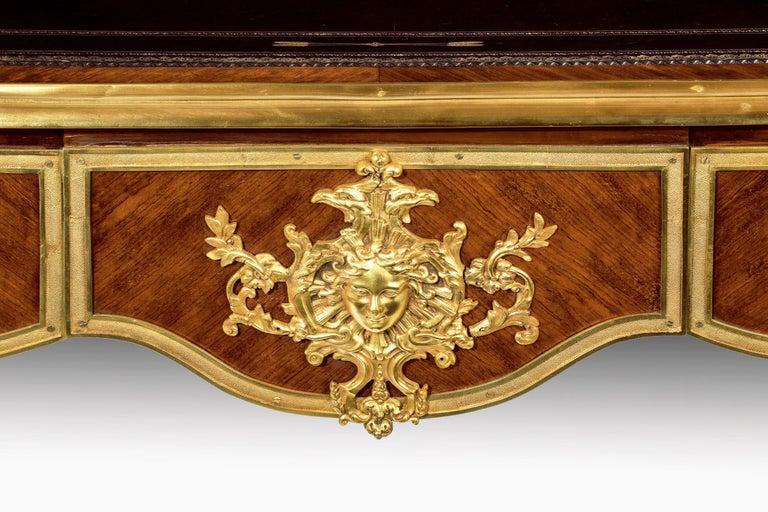 French 19th Century Kingwood and Ormolu-Mounted Bureau Plat Writing Desk For Sale 1