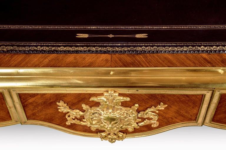 French 19th Century Kingwood and Ormolu-Mounted Bureau Plat Writing Desk For Sale 3