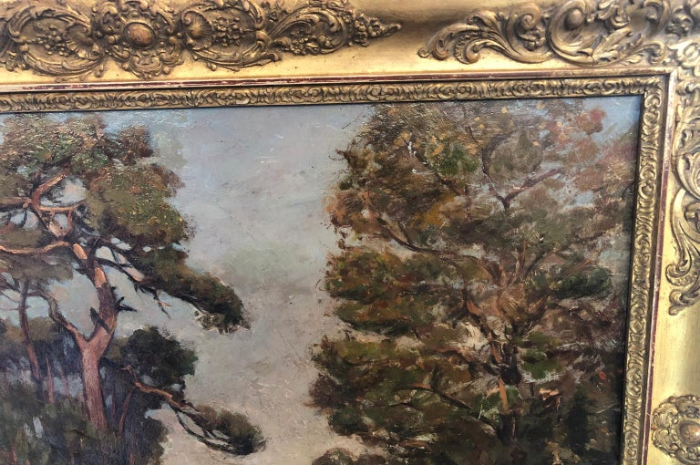 French 19th Century Landscape Oil Painting For Sale 1