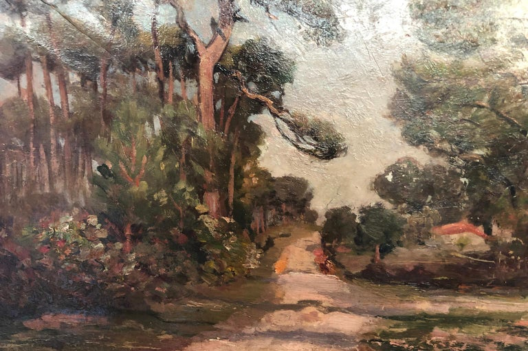 French 19th Century Landscape Oil Painting For Sale 3