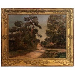 French 19th Century Landscape Oil Painting