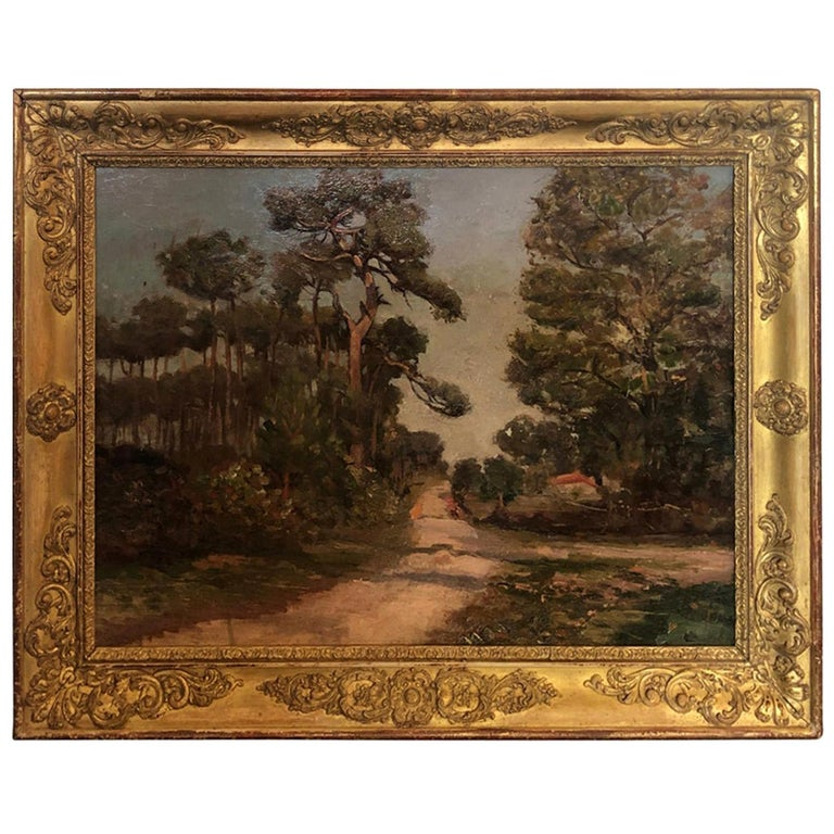 French 19th Century Landscape Oil Painting For Sale