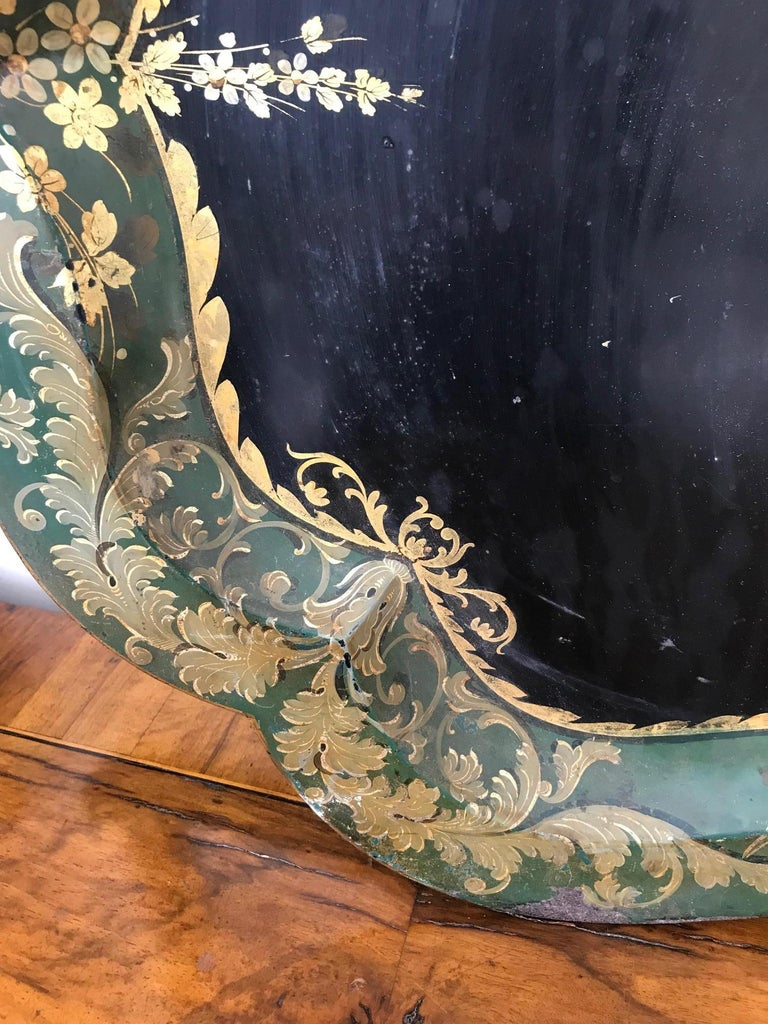 French 19th Century Large Tole Tray For Sale 6