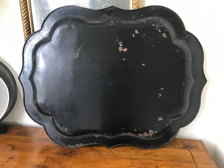 French 19th Century Large Tole Tray For Sale 8