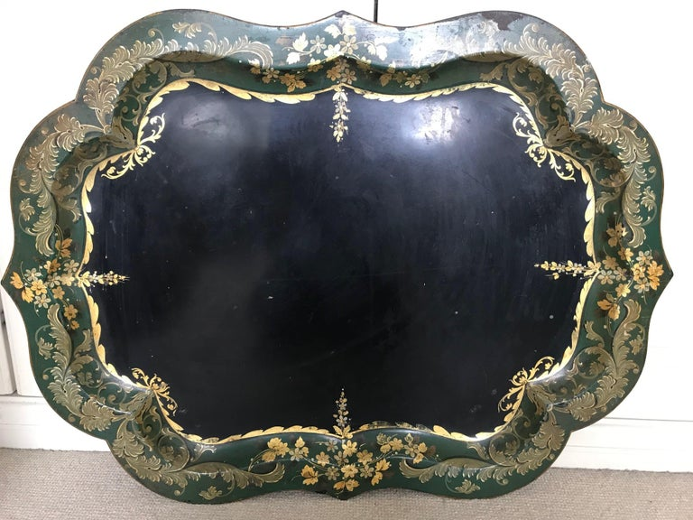 French 19th Century Large Tole Tray For Sale 10