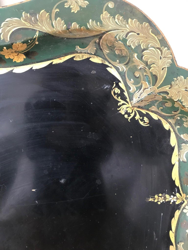French 19th Century Large Tole Tray For Sale 3