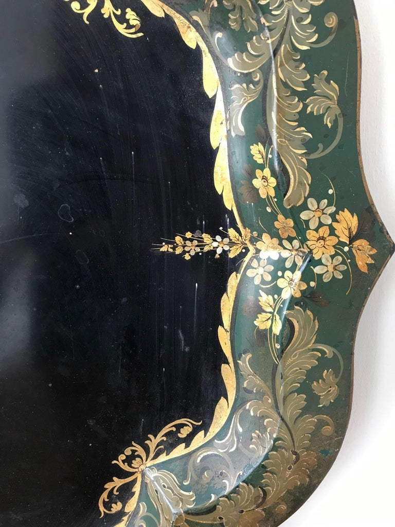 French 19th Century Large Tole Tray For Sale 4