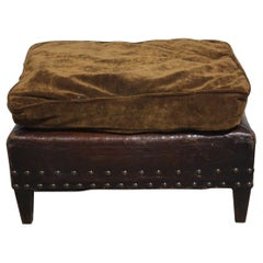 French 19th Century Leather Stool