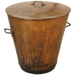 French 19th Century Lidded Copper Vessel