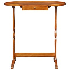French 19th Century Light Cherry, Kidney Shaped Table