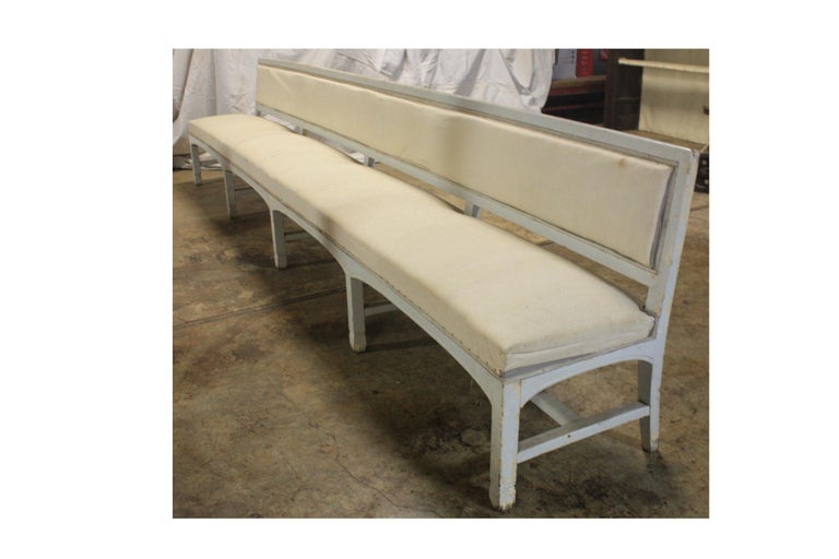 French 19th century pool bench.