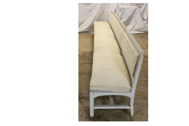 Lacquered French 19th Century Long Bench For Sale