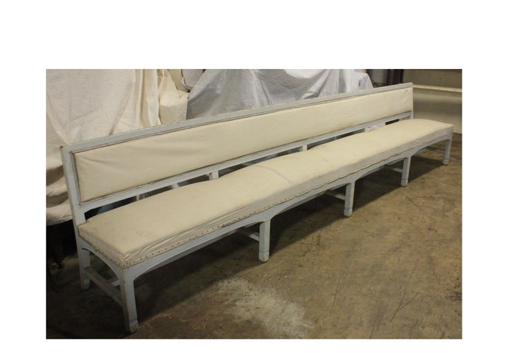 French 19th Century Long Bench For Sale 1