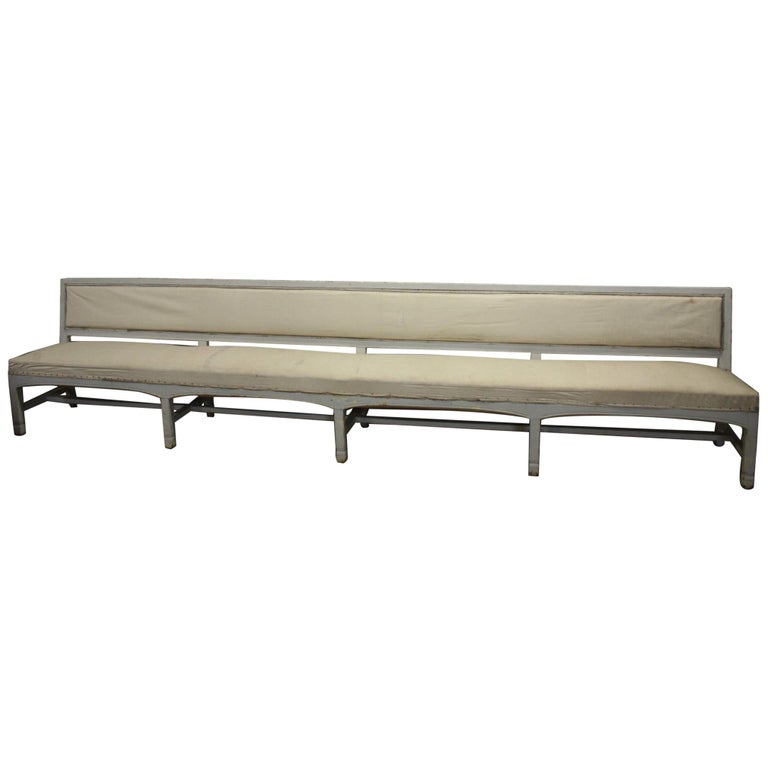 French 19th Century Long Bench For Sale