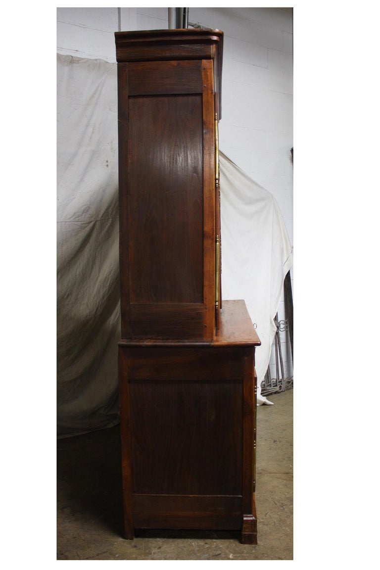 Cherry French 19th Century Louis-Philippe Buffet 2Corps For Sale