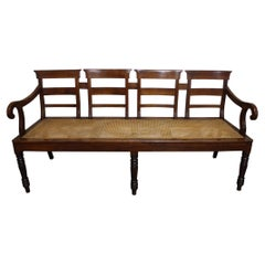 French 19th Century Louis-Philippe Cane Settee