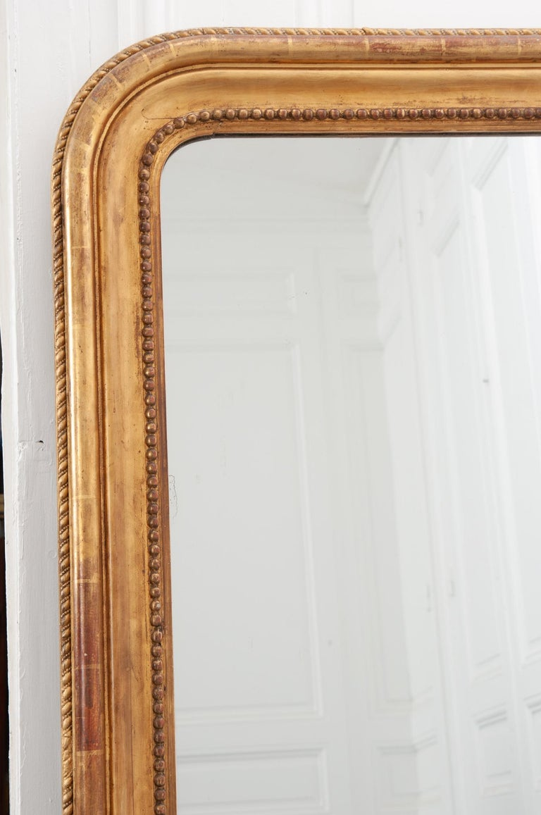 French 19th Century Louis Philippe Giltwood Mirror In Good Condition In Baton Rouge, LA