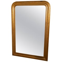 French 19th Century Louis Philippe Gold Mirror