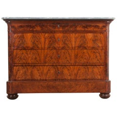 French 19th Century Louis Philippe Style Mahogany Commode