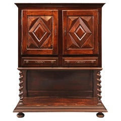French 19th Century Louis XIII Style Walnut Cabinet