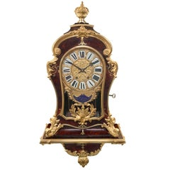 French 19th Century Louis XIV St. Cartel Clock Signed F. Lesage, Paris