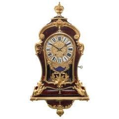 French 19th Century Louis XIV St. Cartel Clock Signed F.Lesage Paris