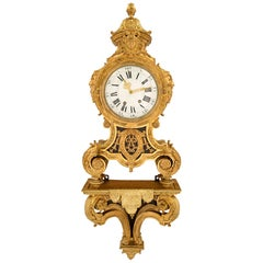 French 19th Century Louis XIV St. Ormolu Cartel Clock