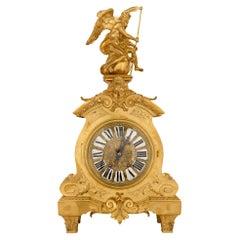 French 19th Century Louis XIV St. Ormolu Clock