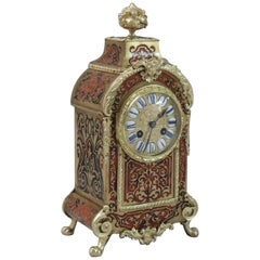 French 19th Century Louis XIV Style Boulle Mantel Clock
