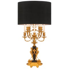 French 19th Century Louis XIV Style Candelabra Lamp