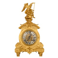 French 19th Century Louis XIV Style Ormolu Clock