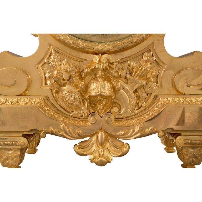 French 19th Century Louis XIV Style Ormolu Three-Piece Garniture Set For Sale 7