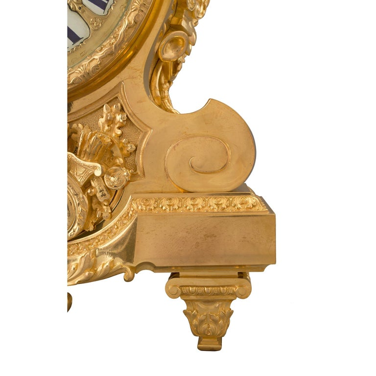 French 19th Century Louis XIV Style Ormolu Three-Piece Garniture Set For Sale 8